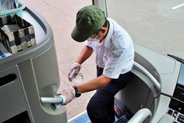 【コロナ対策】定期的な消毒・清掃(西部観光)